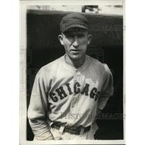 1929 Press Photo Chicago Cubs' Jim Taylor, steady both behind and at bat