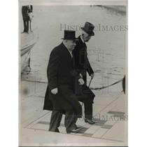 1935 Press Photo Finland Pres Pehrlevind Svinhelvood & Swedish King Gustaf