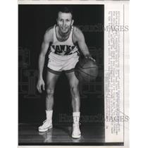 1957 Press Photo St Louis Hawks guard Slater Dugie Martin named tepm coach