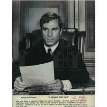 1967 Press Photo A Covenant With Death George Maharis - cvp35948