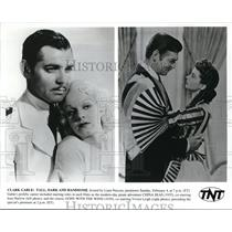 Undated Press Photo Clark Gable Jean Harlow China Seas movie and Vivien Leigh