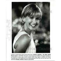Undated Press Photo Olivia Newton JOhn The Fight Against Breast Cancer