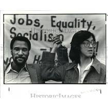 1984 Press Photo Larry Holmes and Gloria Lariva - cva41701