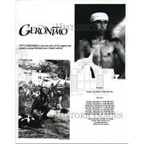 1993 Press Photo TV Geronimo - cvp34514
