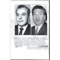"""1969 Wire Photo Reputed Cosa Nosra figure Ruggerio """"Tony Boy"""" Boiardo"""