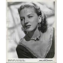 1940 Press Photo Marilyn King featured with Alvino Rey and his Blue Reys