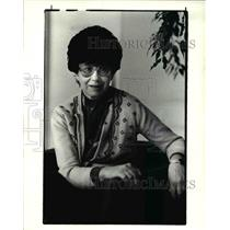 1985 Press Photo Zuzana Ruzickova Survivor of Nazi Concentration Camp