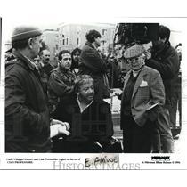 1994 Press Photo Paolo Villaggio and Lina Wertmuller on set of Ciao Professore