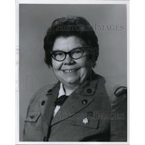 1968 Press Photo Mrs. George Voinovich wears the Girls Scout Thanks Badge