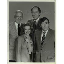 1982 Press Photo Jack Perkins Betsy Aaron Garrick Utley Douglas Kiker NBC Magazi
