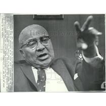1969 Wire Photo Rev Martin Luther King Sr talks with newsmen at Atlanta church