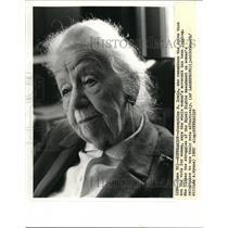 1982 Wire Photo Josephine Irwin on lagging women's movement - cvw00319