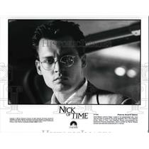 1995 Press Photo Johnny Depp in Nick of Time - cvp30380