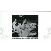 Undated Press Photo William Warren, Claudette Colbert in Cleopatra - cvp38442