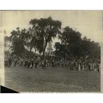1927 Press Photo Crowds Disperse in Boston When Police Intervene