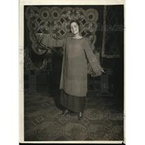 1920 Press Photo Simple Batik Dyed in Subdued Colors