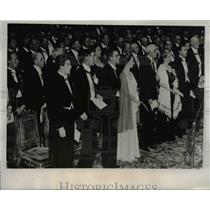 1937 Press Photo King and Swedish family at Nobel Prize Ceremony. - nee80784