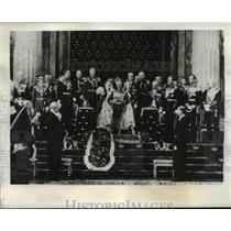1939 Press Photo King Gustav of Sweden reads Declaration of Neutrality.