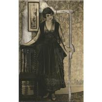 1918 Press Photo Panner Pocket Dress Gasli Material Folded & Beaded Embroidery