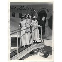 1936 Press Photo Mrs Melissa Huxley Celebrating 98th Birthday 1st Plane Trip
