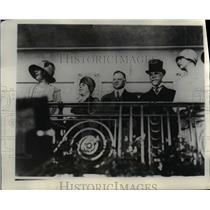 1929 Press Photo President elect Hoover and his party in Presidential box.