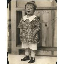 1921 Press Photo Little Dorinan Child Fashion Free Show