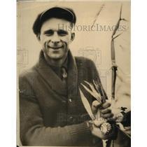 1926 Press Photo Fred Stunek pf Iowa Cornhusking Champion of Entire World