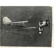1929 Press Photo Mexican Excelsior Airplane on Test Flight at San Diego