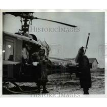 1960 Press Photo Chile Earthquake US Army Helicopter - nex90855