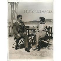 1932 Press Photo Mr & Mrs James J Flavin at Hotel Inverurie in Bermuda