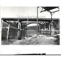 1980 Press Photo Old Rocky River Bridge - cva81959