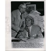1955 Press Photo Ralph Guglielmi Signs with Redskins, George Preston Marshall