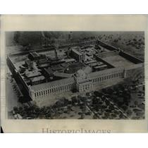 1931 Press Photo An airview of Federal Penitentiary at Leavenworth Kansas.