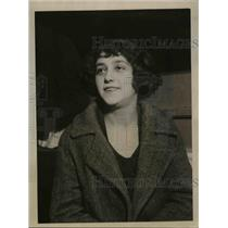 1923 Press Photo Rose Tobacke, Striking Dress Goods Worker