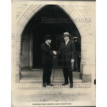 1925 Press Photo W L McKenzie King Prime Minister of Canada and Milton Sills
