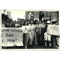 1983 Press Photo Women take back the night, march to Justice Center from CSU