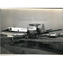 1989 Press Photo A U.S. Customs Service P3 Orion at Naval Air Station - cva83347
