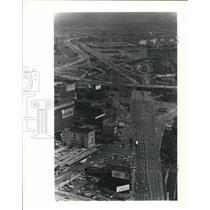1980 Press Photo The Airview of Central Market in Foreground new Postal Complex
