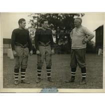 1925 Press Photo Head coach Robinson & Brown footballers FD & DH Moray