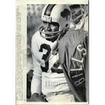 1973 Press Photo O.J. Simpson of Bills at Practice Hopes to Break Rushing Record