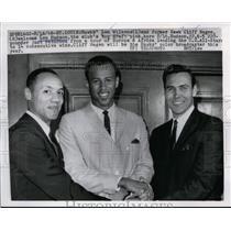 1966 Press Photo Len Wilkens, Cliff Hagen & Lou Hudson of St Louis Hawks