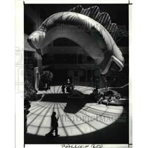 1990 Press Photo Avenue at Tower City decorated by cold air Inflatable Balloons