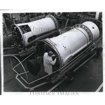 1965 Press Photo Second Stage of the Delata Vehicle of NASA. - cva73820