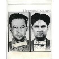 1935 Press Photo Floyd Jarrett & Jack Newman convict sescaped at Oklahoma Prison