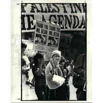 1983 Press Photo The Lebanist and Palestinians in Cleveland during a rally