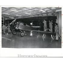 1977 Press Photo Workers at the Crawford Auto-Aviation Museum - cva88448