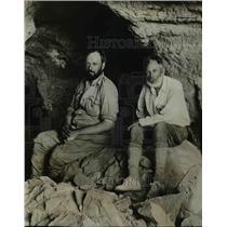 1927 Press Photo Harvard Expedition at Mount Serabit RP Blacko & Kirsopp Lake