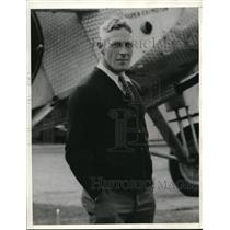 1934 Press Photo George Rice veteran flyer before mail plane crash