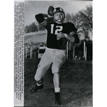 1955 Press Photo Quarterback Gary Glick of Colorado A&M Chosen by Steelers