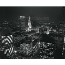 1987 Press Photo The 1987 Night Airviews Downtown Cleveland, Ohio - cva83221